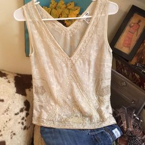 Amazing look and vintage feel H&M sheer hand bead!